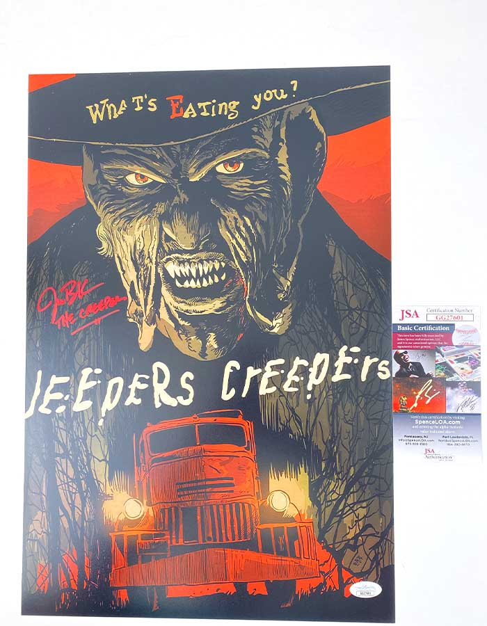 Jonathan Breck signed 12x18 Poster Jeepers Creepers