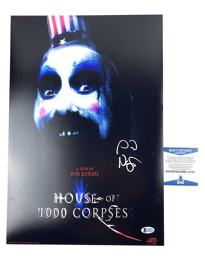 Sid Haig Signed 12x18 Poster House of 1000 Corpses