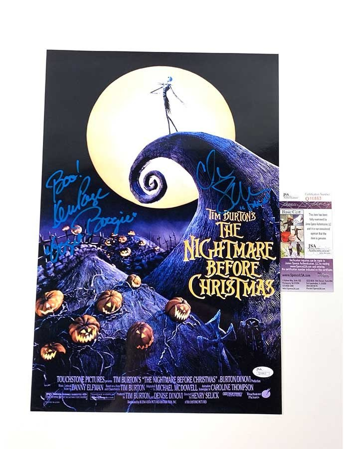 Ken Page & Chris Sarandon Signed 12x18 Poster The Nightmare Before Christmas