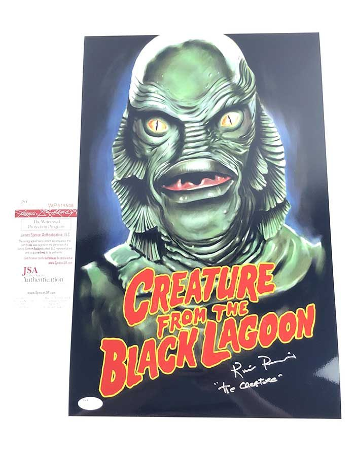 Ricou Browning Signed 11x17 MetallicPoster Creature from the Black Lagoon