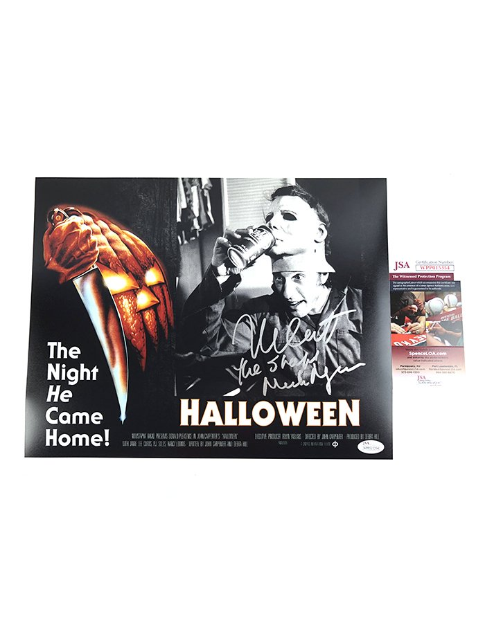 "Nick Castle signed 11""x14"" Photo Halloween Michael Myers"