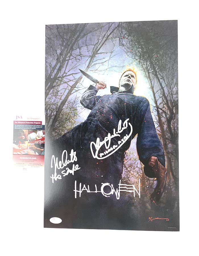 Nick Castle and James Jude Courtney signed 12x18 San Diego Comin Con Exclusive Poster